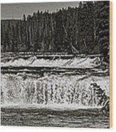 Cave Falls Wood Print