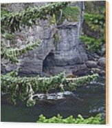 Cave Of The Bay Wood Print