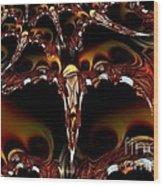 Cave Of The Garnet Skulls Wood Print