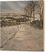 Cavehill Winter Walk Wood Print