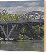 Caveman Bridge With Text Wood Print