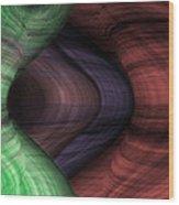 Caverns Of Wonder Wood Print