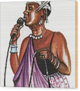 Cecile Kayirebwa Wood Print