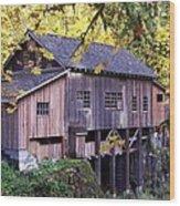 Cedar Creek Grist Mill In Autumn Wood Print