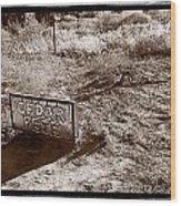 Cedar Pete Gravesite In Grafton Utah Wood Print