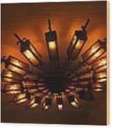 Ceiling Light At One O Clcok Wood Print