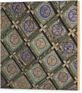 Ceiling Tiles In The Forbidden City Wood Print