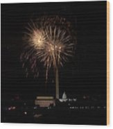 Celebrating America From The Captial Wood Print