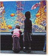 Celebrating Life Under The Sea  Wood Print