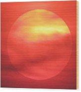 Celestial Fire Wood Print