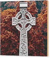 Celtic Cross Wood Print