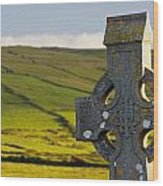 Celtic Cross In A Cemetery Wood Print