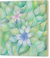 Celtic Flowers Wood Print