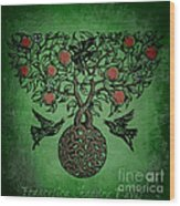 Celtic Tree Of Life Wood Print by Sacred  Muse