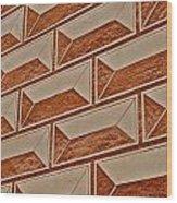 Cement Block Wall Design Wood Print
