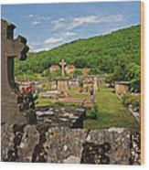 Cemetery In France Wood Print