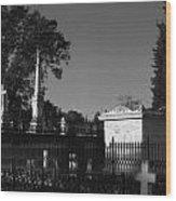 Cemetery- Natchez Mississippi Wood Print