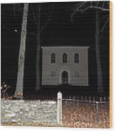 Cemetery On A Full Moons Night Wood Print