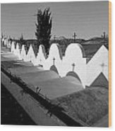 Cemetery Spain Three Wood Print