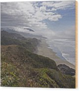Central Oregon Coast Vista Wood Print