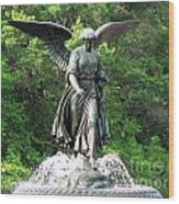 Central Park Angel Wood Print