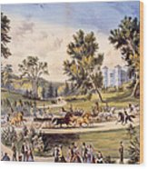 Central Park, The Grand Drive Wood Print