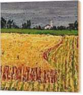 Central Pennsylvania Summer Wheat Wood Print