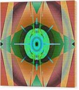 Central Radiance Wood Print