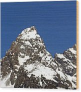 Central Teton Mountain Peak Wood Print