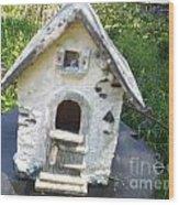 Ceramic Birdhouse Wood Print