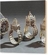Ceremonial Marriage Rings Wood Print