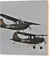 Cessna Bird Dog O-1el-19 Wood Print