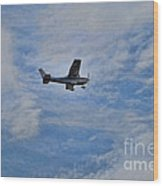 Cessna In Flight Wood Print
