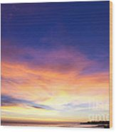 cf 518 A Blue sunset Wood Print