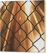Chain-link And Light Lines Wood Print