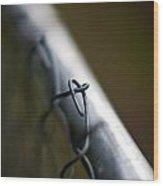 Chain Link Wood Print