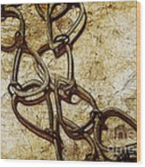 Chain Links Wood Print by Judi Bagwell