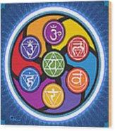 Chakra Circle Wood Print
