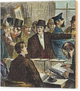 Challenging A Voter, 1872 Wood Print