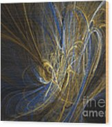 Champagne - Abstract Art Wood Print