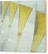 Champagne Wood Print by David Munns