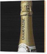 Champagne Neck Wood Print