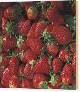 Chandler Strawberries Wood Print