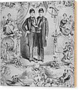 Chang And Eng Bunker, The Original Wood Print