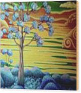 Changing Colours Wood Print by Barbara Stirrup