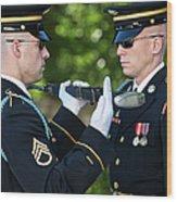Changing Of Guard At Arlington National Wood Print