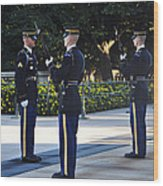 Changing Of The Guards  Wood Print