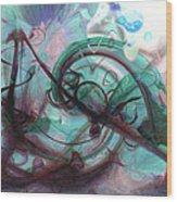 Chaos Wood Print by Linda Sannuti