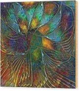 Chaotic Colour Wood Print