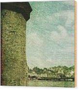 Chapel Bridge Tower In Lucerne Switzerland Wood Print
